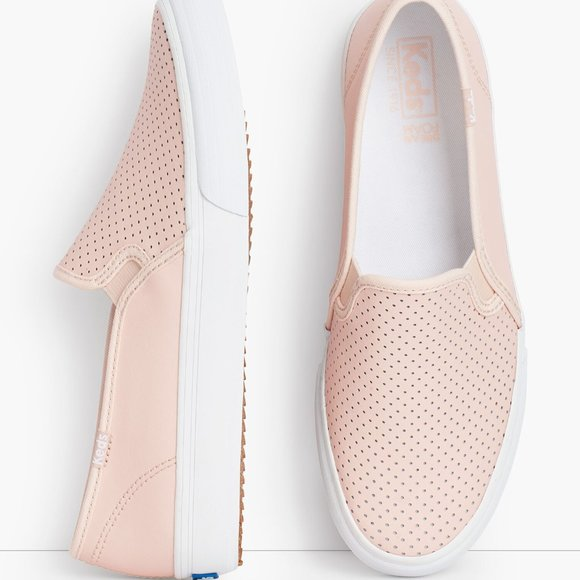 Keds Dble Decker Perforated Slip On Sneakers NWOB
